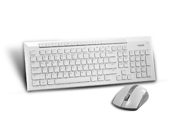 Rapoo 8200P 5G Wls Mouse And Kb Set Whit