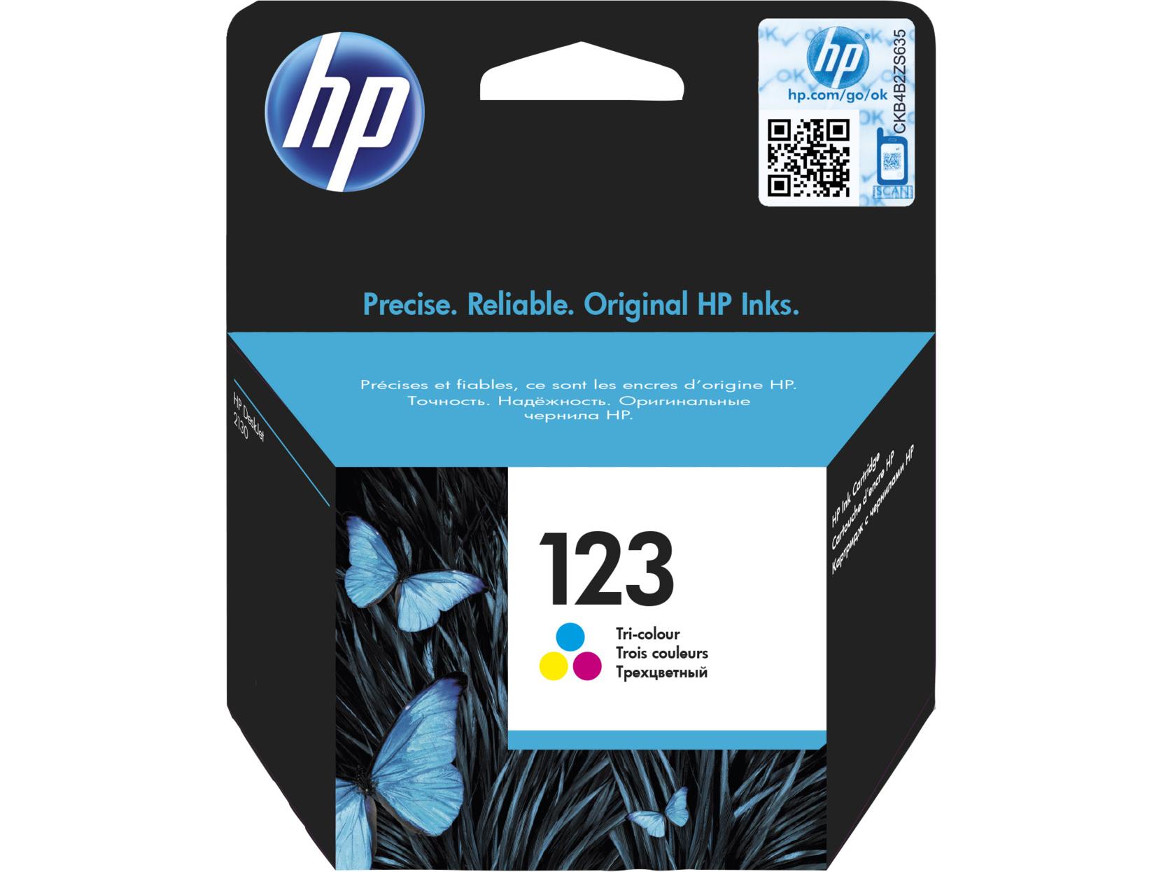 Brilliant Hp 123 Tri Color Original Ink Cartridge Deskjet Hp Deskjet 2130 All In One Printer Compatible Interior Design Ideas Gentotryabchikinfo